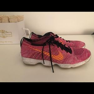 3e26e9ca8f72 ... Nike Sneakers Hot PInk with Orange Swoosh Size ...